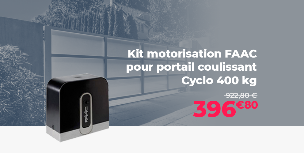 Kit motorisation portail coulissant FAAC Cyclo